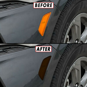 FOR 21-22 Kia K5 Front Side Marker SMOKE Precut Vinyl Tint Overlays