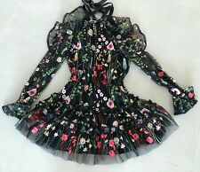 Alexis Adeline Floral Embroidered Dress. Size SMALL. Pre-Owned.