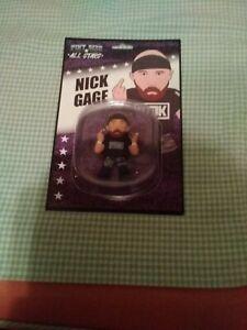 "Nick Gage Pint Size All Star Wrestling Loot Action Figure 3"" AEW GCW MDK Black"