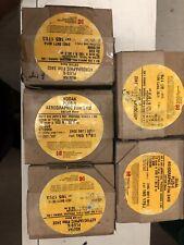 Five Rolls of 70 mm x 100 feet Kodak Plus X Aerographic film.