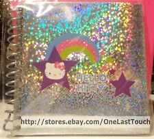 HELLO KITTY by Sanrio SPIRAL NOTEBOOK~40 SHEETS~Rainbow & Stars~SUPER SHINY!