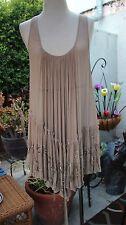 All Saints Thalia Vintage Pink Silk Beaded Tunic Top NWT $310 Uk12/US8