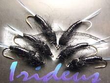 Irideus Dark Star Black Stonefly Nymph Trout Flies Steelhead Fly Fishing Flies