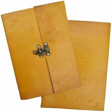 Handmade Real Leather Yellow Sketchbook Journal Diary Scrapbook - 2nds' Quality