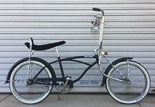 "Lowrider Dragster Bike 20"" Complete Kit Bicycle Matte Black and Chrome"