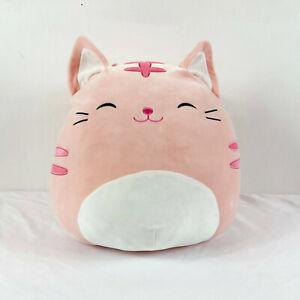"Kellytoy Squishmallows Pink Cat Paulita Plush 16"" Stuffed Toy Lovey"