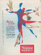 ▬► PUBLICITÉ ADVERTISING AD Nylon Elastique HELANCA 1957