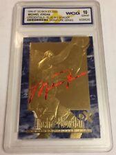 MICHAEL JORDAN AUTOGRAPHED EX-2000 RARE BLUE BORDER WCG GEMMT 10 23KT GOLD CARD