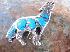 Wolf Pendant Stone Inlay Handmade by Artesanas Campesinas in Mexico New pa10