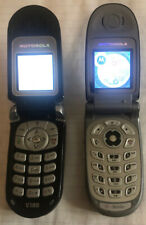 Motorola V188 Gsm & V180 Gsm Flip Phone Lot Manual, Headphones, Og Box, Sim Card