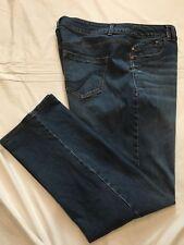 (*.*) LANE BRYANT * Womens GENIUS FIT STRAIGHT LEG Blue Jeans * Plus Size 20