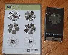 Stampin' UP Flower Shop with matching Pansy Punch Bundle - NIP