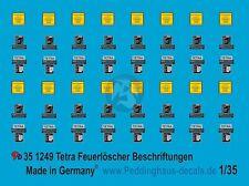 Peddinghaus 1/35 Tetra Fire Extinguisher Markings for German Tanks WWII 1249