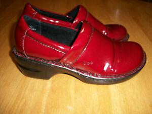 BOC Born Concept Women's Size 8 / 39 Slip On Clogs Shoes Red