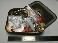Mixed Lot Of Vintage Quartz Watch Parts In Tin Useful Watchmakers Spares (B84)