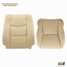 2003 2004 2005 LEXUS GX470 Driver Side Top & Bottom Leather Seat Cover Color Tan