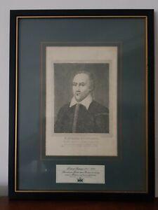 A Collectable Framed Vintage RSC Shakespeare Print King Richard Richard Burbadge