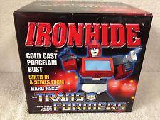 """IRONHIDE Transformers HARD HERO Porcelain 6"""" Cold cast Bust  SER# 3277"""