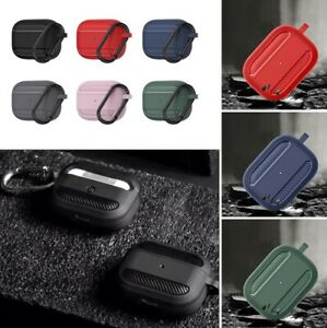 Protective Carbon Fibre Apple Airpod Case Key TPU Cover Skin for Airpods 1 2 PRO