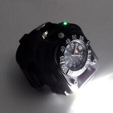 Wrist Watch Flashlight w/ Compass Waterproof LED Rechargeable Torch Outdoor Lamp