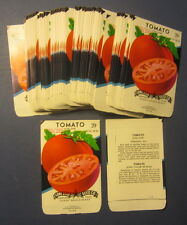 Wholesale Lot of 100 Old Vintage Tomato June Pink Vegetable Seed Packets - Empty