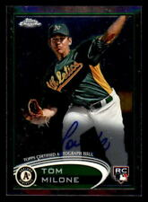 2012 Topps Chrome Rookie Autographs #169 Tom Milone Rookie Auto (ref 30835)