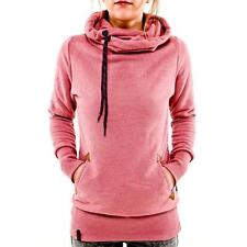 Womens Long Sleeve Hoodies Sweatshirt Jumper Tops Sweater Pullover Coat Winter