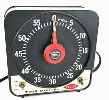 Vintage Time-O-Lite Ezc-73 Large Analog Timer photography darkroom