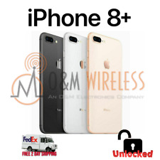 Apple iPhone 8 Plus 64GB 128GB 256GB (A1897, Factory Unlocked) - All Colors