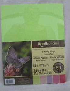 """RECOLLECTIONS CARDSTOCK  Paper 8 1/2"""" x 11"""" 50 Sheets 65 lb 5 COLOR PACK U PICK"""