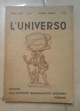 RIVISTA L'UNIVERSO ISTITUTO GEOGRAFICO MILITARE MARZO APRILE 1950