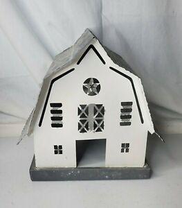 Galvanized Corrugated Steel Tin Metal Rustic Farmhouse Shabby Barn Birdhouse