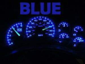 Gauge Cluster LED Dashboard Bulbs Blue For Chevy GMC 99 02  Silverado Truck