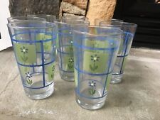 Pfaltzgraff Clover Hill Set Of 8 -16oz Tumblers/ Drinking Glass. Preowned Unused