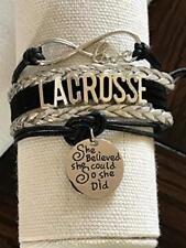Lacrosse She Believed She Could So She Did Bracelet- Girls Lacrosse
