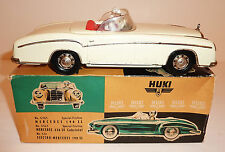 HUKI Germany Tin Plate Friction 1959-65 MERCEDES 220SE CABRIOLET with BOX -#5/14
