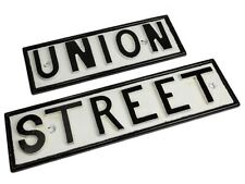 c1900 Plymouth Famous Union Street Cast Iron Sign