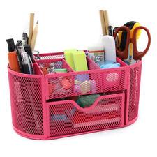 Mesh Desk Organizer Pencil Holder Office Supplies Desktop Organizer with Drawer