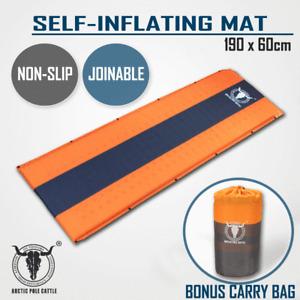 Self Inflating Mattress Sleeping Mat Air Bed Camping Camp Hiking Joinable Single