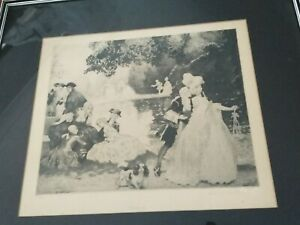 Norman Lindsay Gossip Limited Edition Facsimile Etching 384/550
