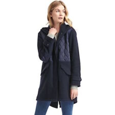GAP Wool Blend Quilted Anorak Dark Night Sz XS (J15)
