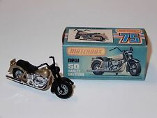 VINTAGE MATCHBOX SUPERFAST No #50 HARLEY DAVIDSON MIB 1970s LESNEY