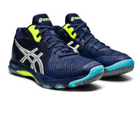 Asics Mens Netburner Ballistic MT Indoor Court Shoes Navy Blue Sports Squash