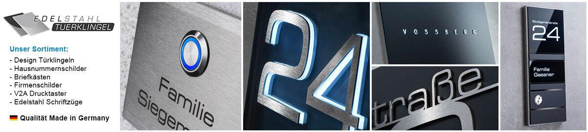 Nom de bouclier v2a acier inoxydable dans Anthracite RAL 7016 avec trou /& Étanche