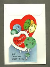 Mechanical Valentine Original Vintage Diecut Large Childrens Card with Envelope