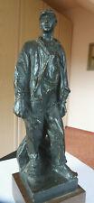 Maschinenarbeiter - Skulpt.  Bretislav Benda - 1897-1983 - Harz - bronz. u. pat.