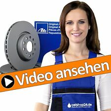 ATE Bremsenset Kit VORNE 2 Bremsscheiben Ø280mm + 4 Bremsbeläge VW GOLF 5/6 V VI