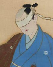 "J233: Japanese hanging scroll Dancing SAMURAI ""Oishi Kuranosuke"""