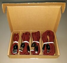NEW Iphone Charger Cord 4 Pack Lightning Cable Red Black ipad  iphone 11 8 7 6