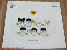 BANGTAN BOYS HIPHOP MONSTER CHARACTER GOODS HAVE A GOOD DAY BTS WHITE MOUSE PAD